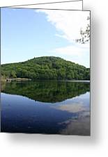 A Reflective View Of Round Pond At The United States Military Academy Greeting Card