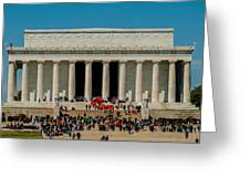 Abraham Lincoln Memorial In Washington Dc Usa Greeting Card