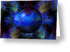 Abstract Blue Globe Greeting Card