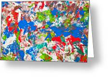 Abstract Colorful Painting Background Greeting Card