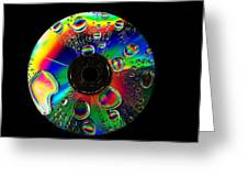 Abstract Rainbow Droplets On Cd Greeting Card