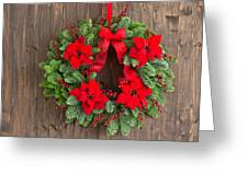 Advent Wreath With Winter Rose Greeting Card