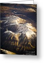 Aerial Mountains Greeting Card