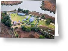 Aerial Near Jekyll Island Greeting Card