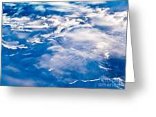 Aerial View Of Snowcapped Peaks In Bc Canada Greeting Card