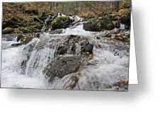 Alaskan Waterfall Greeting Card