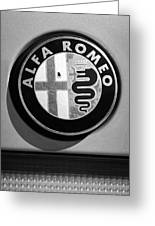 Alfa Romeo Emblem Greeting Card