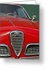 Alfa Romeo Grille Emblem Greeting Card