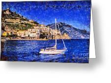 Amalfi Town In Italy Greeting Card