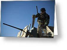 An Afghan National Army Soldier Greeting Card