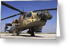 An Ah-64a Peten Attack Helicopter Greeting Card