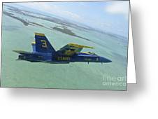 An Fa-18 Hornet Of The Blue Angels Greeting Card