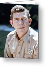 Andy Griffith In The Andy Griffith Show  Greeting Card
