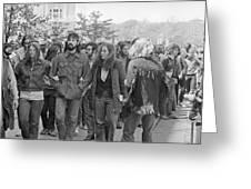 Anti-war Protest, 1971 Greeting Card
