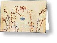 Archbishop Makarios  Autograph Greeting Card