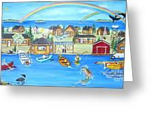 Arctic Lodges Greeting Card