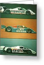 Automobile Racing Greeting Card