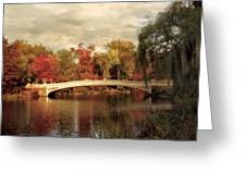 Autumn At Bow Bridge Greeting Card