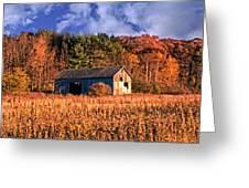 Autumn Barn Greeting Card