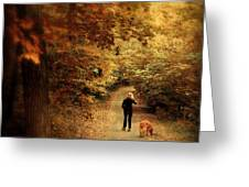 Autumn Stroll Greeting Card by Jessica Jenney