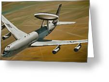 Awacs Up For A Drink Greeting Card