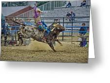 Bareback Bronc Riding Greeting Card