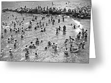 Bathers At Coney Island Greeting Card