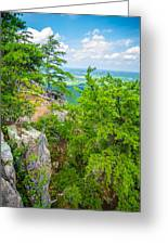 Beautiful Aerial Landscape Views From Crowders Mountain North Ca Greeting Card