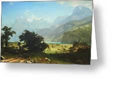 Bierstadt's Lake Lucerne Greeting Card