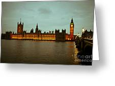 Big Ben And Houses Of Parliament Greeting Card