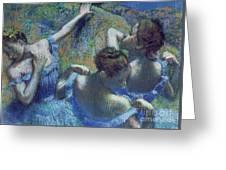 Blue Dancers Greeting Card