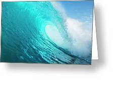 Blue Ocean Wave Greeting Card