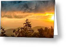 Blue Ridge Parkway Autumn Sunset Over Appalachian Mountains  Greeting Card