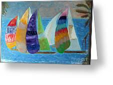 Boats At Sunset 1 Greeting Card