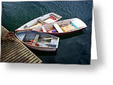 3 Boats Greeting Card by Emmanuel Panagiotakis