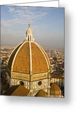 Brunelleschi's Dome At The Basilica Di Santa Maria Del Fiore Greeting Card