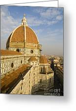 Brunelleschi's Dome At The Florence Cathedral  Greeting Card