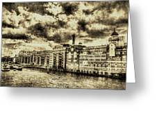Butlers Wharf London Vintage Greeting Card