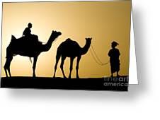 Camel Caravan, India Greeting Card