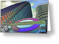 Canary Wharf London Art Greeting Card