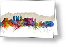 Cape Town South Africa Skyline Greeting Card
