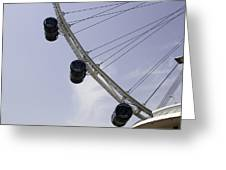 3 Capsules Of The Singapore Flyer Along With The Spokes And Base Greeting Card