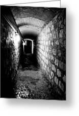Catacomb Tunnels In Paris France Greeting Card