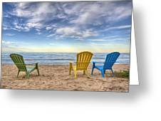 3 Chairs Greeting Card