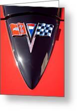 Chevrolet Corvette Hood Emblem Greeting Card