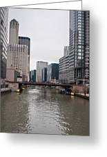 Chicago Skyline And Streets Greeting Card