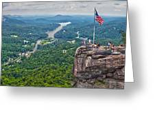 Chimney Rock At Lake Lure Greeting Card