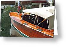 Chris Craft Runabout On Geneva Greeting Card