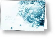 Christmas Balls Decoration Greeting Card