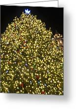 Christmas Tree Ornaments Faneuil Hall Tree Boston Greeting Card